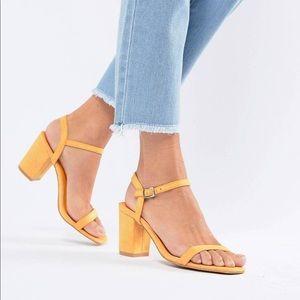Asos Glamorous Peach Block Heel Sandals